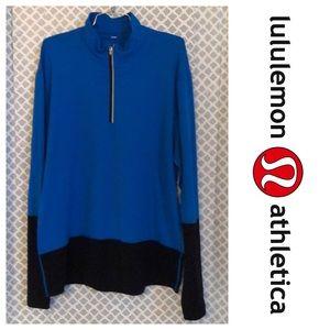 Men's Lululemon blue black pullover athletic top
